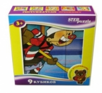 Step Puzzle Кубики Любимые мультфильмы-5 9 штук