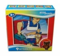 Step Puzzle Кубики Любимые мультфильмы-2 9 штук