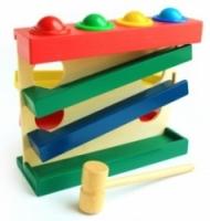 Мир деревянных игрушек Горка-шарики большая