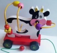 Мир деревянных игрушек Коровка