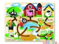 Лабиринт Ферма Мир Деревянной Игрушки от 3 лет (Магазин)