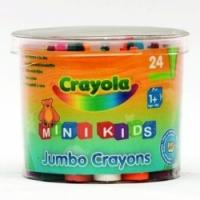 Crayola Мелки восковые в бочонке для малышей 24 шт (арт.0784)