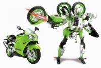 Happy Well Робот-трансформер Kawasaki-Ninja-ZX-12R 1:10 свет