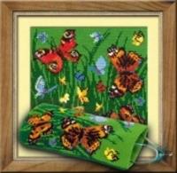 Сотвори сама Набор для вышивания крестом Очечник с бабочками