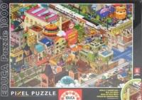 Educa День в городе (пиксельные пазлы), 1000 деталей
